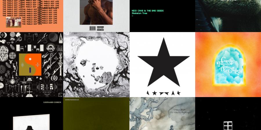 Um ano de luto e de discos: 2016