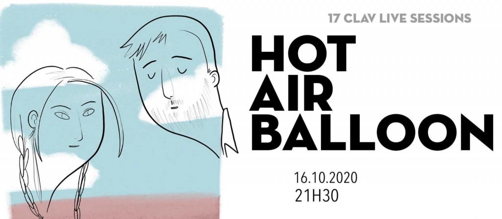 Os Hot Air Balloon actuam hoje na Clav Live Session