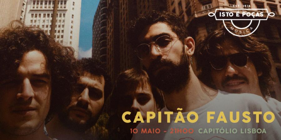Capitão Fausto dão concerto gratuito para 100 fãs no Capitólio