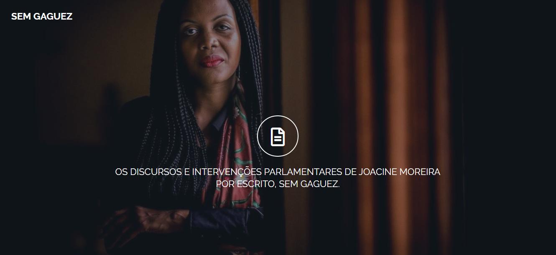"""""""Sem Gaguez"""": site publica discursos de Joacine Katar Moreira para te focares no conteúdo e não na forma"""