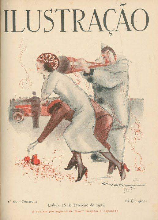 Resultado de imagem para Capa da Ilustração nº 316, de 16 de Fevereiro de 1939 (Edição relativa ao Carnaval)