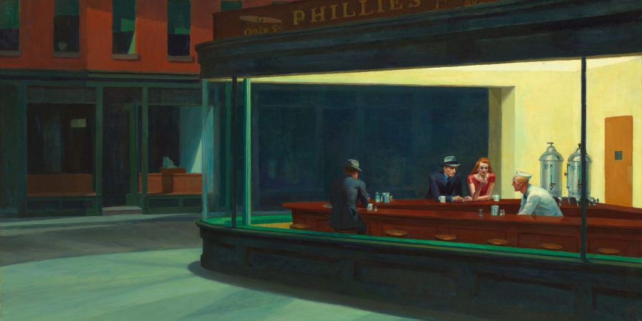 A solitude da pintura de Edward Hopper