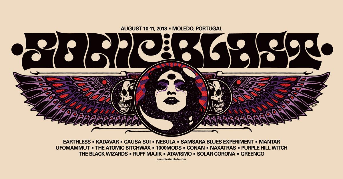 SonicBlast'18 com Samsara Blues Experiment, 1000mods, Mantar, The Atomic Bitchwax e The Black Wizards