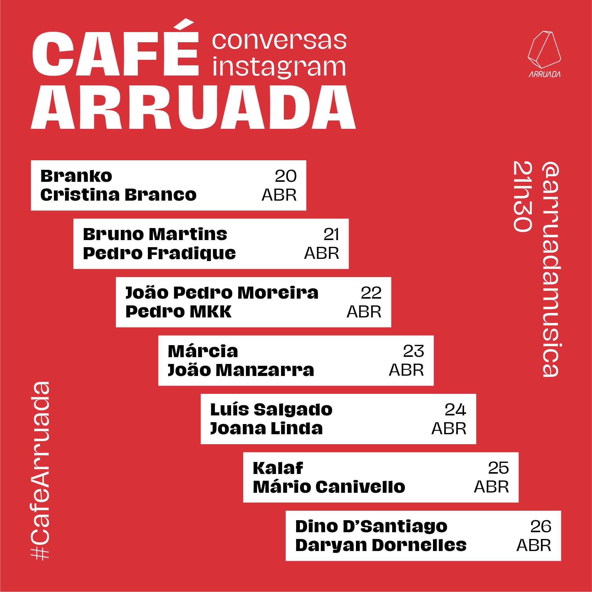 Café Arruada: conversas em directo no Instagram com músicos, fotógrafos, realizadores ou programadores