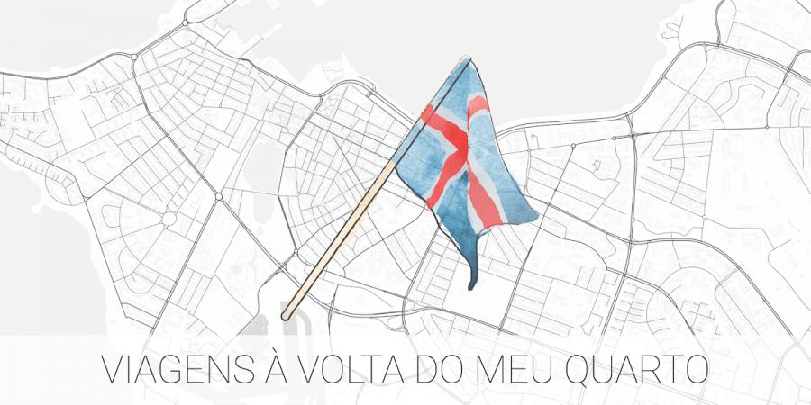 Uma bandeira de Reiquiavique