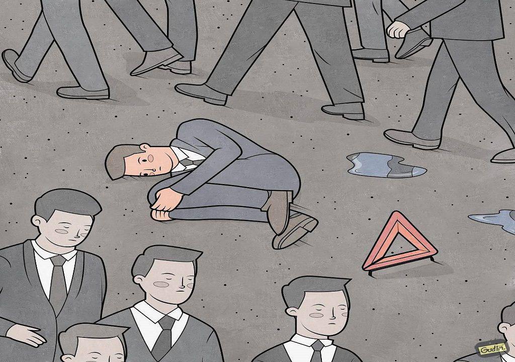 Anton Gudim: o ilustrador russo que nos faz olhar ao espelho de uma forma desconcertante
