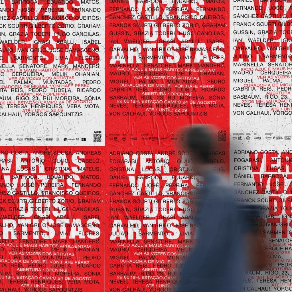 Miguel von Hafe Peréz torna visível a voz de 40 artistas no Metro do Porto