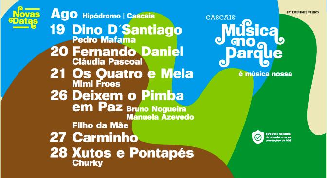 Festival Música no Parque adiado para Agosto 2021