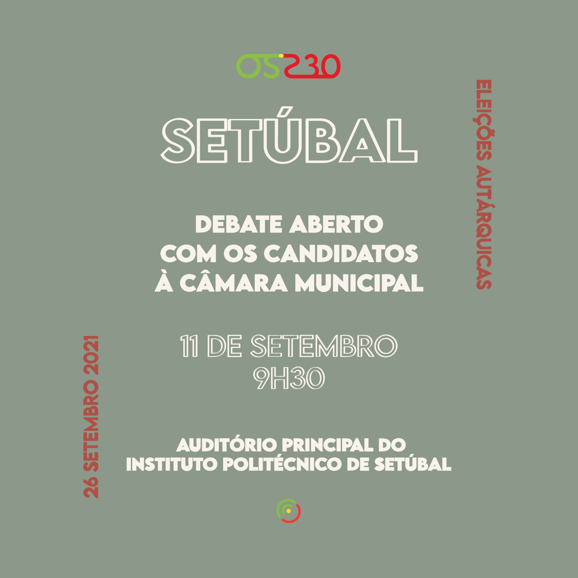 Os 230 promovem debate com os candidatos à Câmara Municipal de Setúbal